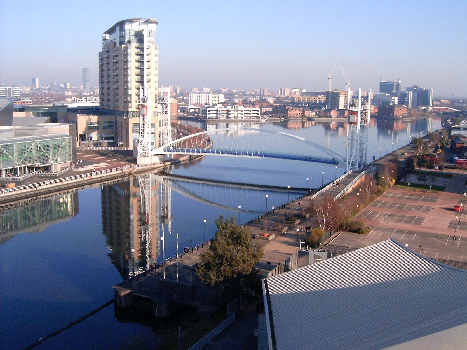 An image of the Salford Quays, an area of North West England covered by Mark Bates & Sons Ltd concrete