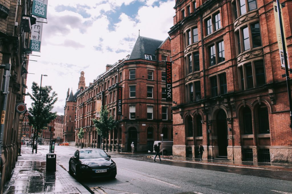 An image of a street in Manchester.